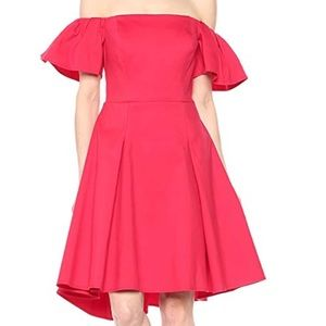 Halston Heritage Flounce Sleeve Dress